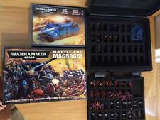 WARHAMMER 40000 BATTLE OF MACRAGGE CARRY CASE FIGURES PAINTED