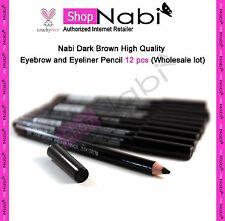 Nabi Dark Brown High Quality Eyebrow and Eyeliner Pencil 12 pcs (Wholesale lot)