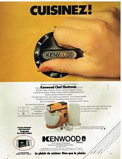 Publicité Advertising 1980 Le Robot de Cuisine Kenwood