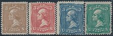 #79-E25j (4) DIFF SHADES PLATE ESSAY ON WHITE PAPER PERF 12 GUMMED BS2760