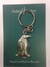 KEYRING PENGUIN BIRD ASTRAL PEWTER CUTE KEYCHAIN HAND CRAFTED UK FINISH NEW
