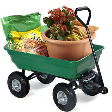 Garden Dump Cart Dumper Wagon Carrier Wheel Barrow Air Tires Heavy Duty 650LB