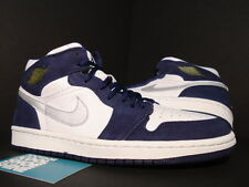 2001 Nike Air Jordan I Retro 1 + WHITE NAVY BLUE SILVER BLACK RED 136065-101 8.5