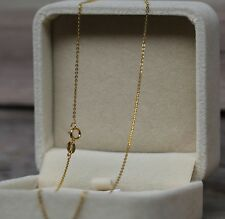 Authentic 18K Yellow Gold Necklace Thin 1.2mmO Link Chain Necklace 40cm L (1pcs)