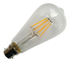 B22 240V 8W 750LM WARM WHITE (2700K) LED FILAMENT RETRO DESIGN BULB ~80W