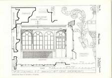 1927 Shop Front of Birch's, No 15, Cornhill, London spandrel carving