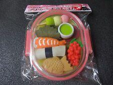 Petit Case Eraser Japanese Food Sushi Wagashi Tea Made in JAPAN