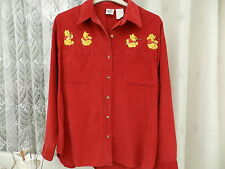 Onorevoli / WOMANS / Ragazze LOVELY rosso in velluto Winnie the Pooh Disney Camicia / blusa