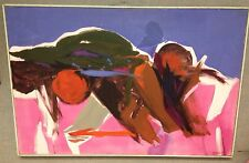 MARCUS   ABSTRACT OIL PAINTING  SIGNED & FRAMED