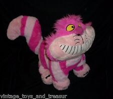 "16"" DISNEY ALICE IN WONDERLAND CHESHIRE CAT STUFFED ANIMAL PLUSH TOY PINK SOFT"