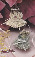 Crochet Pattern ~ COUNTRY ANGEL ORNAMENTS Christmas ~ Instructions