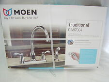 Moen Traditional CA87004 High Arc 2 Handle Kitchen Faucet Chrome 4 hole FreeShip