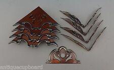 MIXED METALS BY GORHAM COPPER & STERLING FLATWARE CHEST CORNERS 9-PC. (#0498)