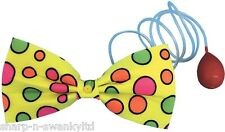 Ladies Mens Large Spotty Water Squirt Bow Tie Clown Circus Fancy Dress Costume