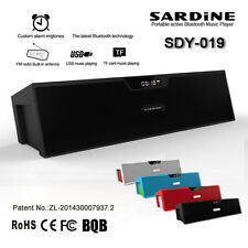 Wireless Bluetooth Sardine Sdy-019 Speaker Sound Box TF USB FM Radio Alarm New