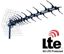 ANTENNE TV  UHF 13 ELEMENTS RECEPTION TNT CANAUX 21 A 60 LTE PROTECTION 4G