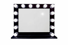 Grand Hollywood Lighted Vanity Mirror w/ Dimmer & Double Outlet