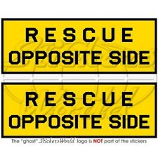 "RESCUE OPPOSITE SIDE Aircraft USAF NATO RAF USN 50mm (2"") Stickers Decals x2"