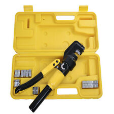 8 Ton Hydraulic Wire Terminal Crimper Battery Cable Lug Crimping Tool 9 Dies