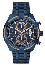 Guess W0522G3 Full Blue & Rose gold Executive Style Chronograph Watch for Men