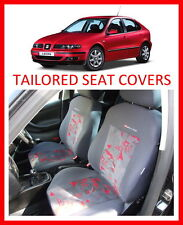 Tailored seat covers for Seat Leon 99-05 Full set grey - red