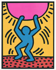 "Keith Haring ""Growing"" 1988 Wachsen Sonne Graffiti Kunstdruck USA Neu Poster 045"
