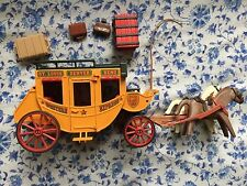 Playmobil Stagecoach Western Cowboys 1990's West Frontier Horses Wagon