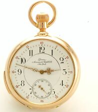 Antique 18-Size Non-Magnetic Geneva Minute Repeater 18K Rose Gold Pocket Watch