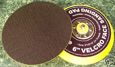 """2 Replacement 6"""" HOOK and LOOP DUAL ACTION DA SANDER PAD foam valcro back new"""