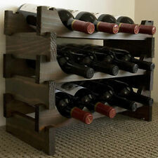 Vinrack 12 Bottle Wooden Wine Rack - Dark Stain
