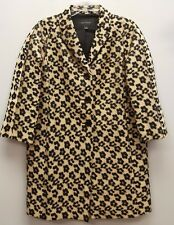 ANN TAYLOR Size S Gold Black Cheetah Leopard Oversized Duster Jacket Coat