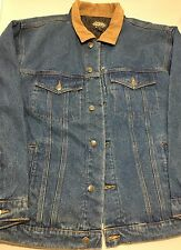 NEW Guide Gear Mens Heavy Denim Jean Jacket  Quilted Lining XL