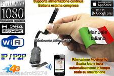 VideoCamera Spia WIFI MOTION DETECTION TELECAMERA MICRO NASCOSTA MICROCAMERA P2P
