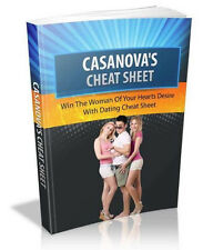 """ Casanova's Cheat Sheet "" Ebook  Dating Date Love - PDF + Full Resale Rights"