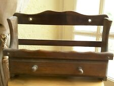 French vintage solid wood spice rack