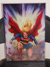 Supergirl Ready To Attack Glossy Art Print 11 x 17 In Hard Plastic Sleeve