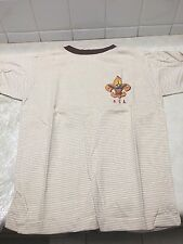 Vintage Boy Scout Striped T-Shirt - Size 14 - New Old Stock