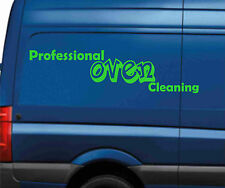 2 x OVEN CLEANING VAN STICKER DECAL READY MADE SIGN GRAPHIC SIGNS WASH PROOF