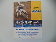 advertising Pubblicità 1984 MOTO KTM CROSS ENDURO 125/250/600