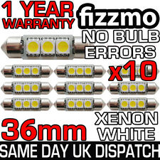 10x 3 SMD LED 36mm 239 272 CANBUS ERROR WHITE NUMBER PLATE LIGHT FESTOON BULB UK
