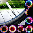 2PCS Car Bike Bicycle Wheel Tire Valve Cap Neon 5 LED Light Lamp Change COLOR