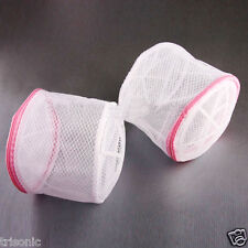 LOT OF 2 Bra Washing Bag Sweet Laundry Bag Underwear Lingerie Saver Mesh Basket