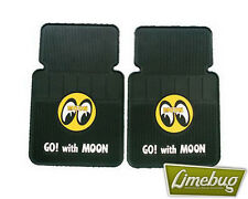Mooneyes Rubber Car Floor Mat Yellow Moon VW Beetle T1 Camper Buggy T2 T3 Bug