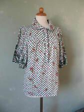 Blutsschwester T-shirt Bluse Trachten grün weiss Rehe Hirsch 40 L / 42 XL (S26)