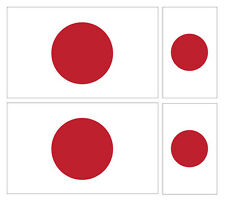 4 x japonais japon flag vinyle voiture van ipad laptop sticker