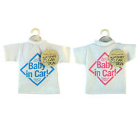 NEW T-SHIRT STYLE BABY ON BOARD CAR SIGN CHILDREN KIDS TODDLERS WINDOW EASY FOLD