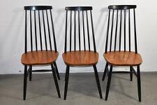 r7f21- 3x Holz Stuhl, dänisches (?) Design 70er Jahre