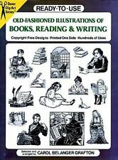 Dover Clip Art Ready-To-Use: Old-Fashioned Illustrations of Books, Reading and W