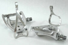 Campagnolo Pedal Set Triomphe W Alloy Toe Clips Vintage Racing Bicycle NOS