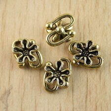 15pcs dark gold-tone daisy flower charm findings h1277